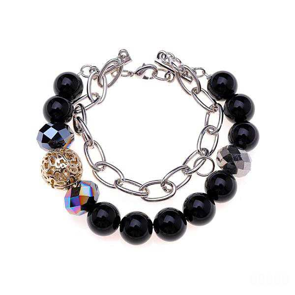 Coach Bead Stretch Black Bracelets CXM