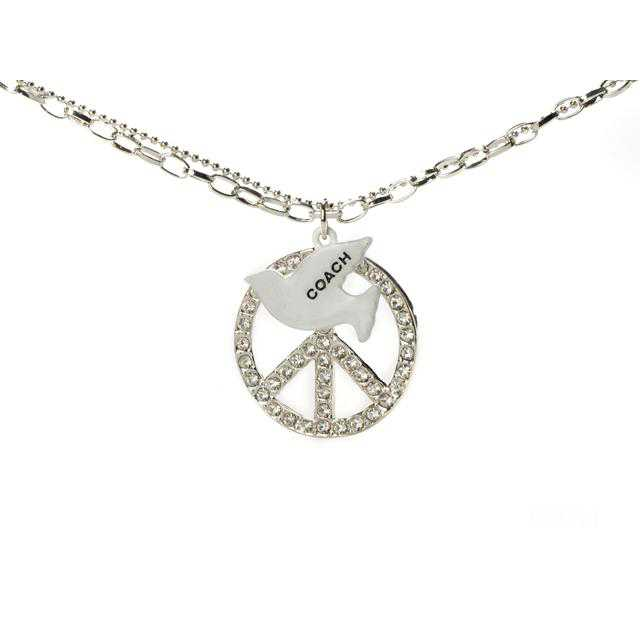 Coach Pigeon Charm Silver Necklaces CXS