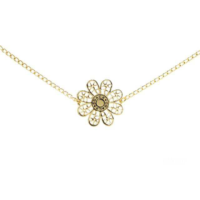 Coach Flower Gold Necklaces CYD