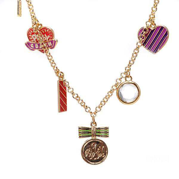 Coach Charm Gold Necklaces CYI
