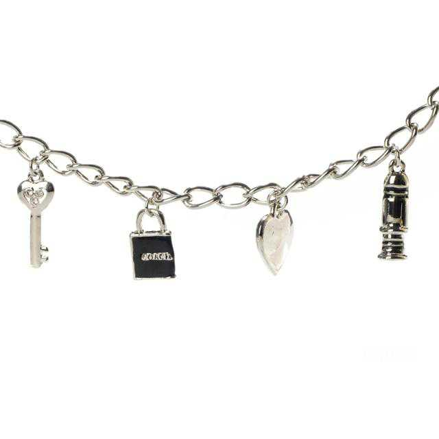 Coach Love Key Silver Necklaces CZP