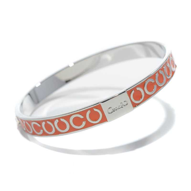 Coach Thin Op Art Pave Orange Bracelets BZT