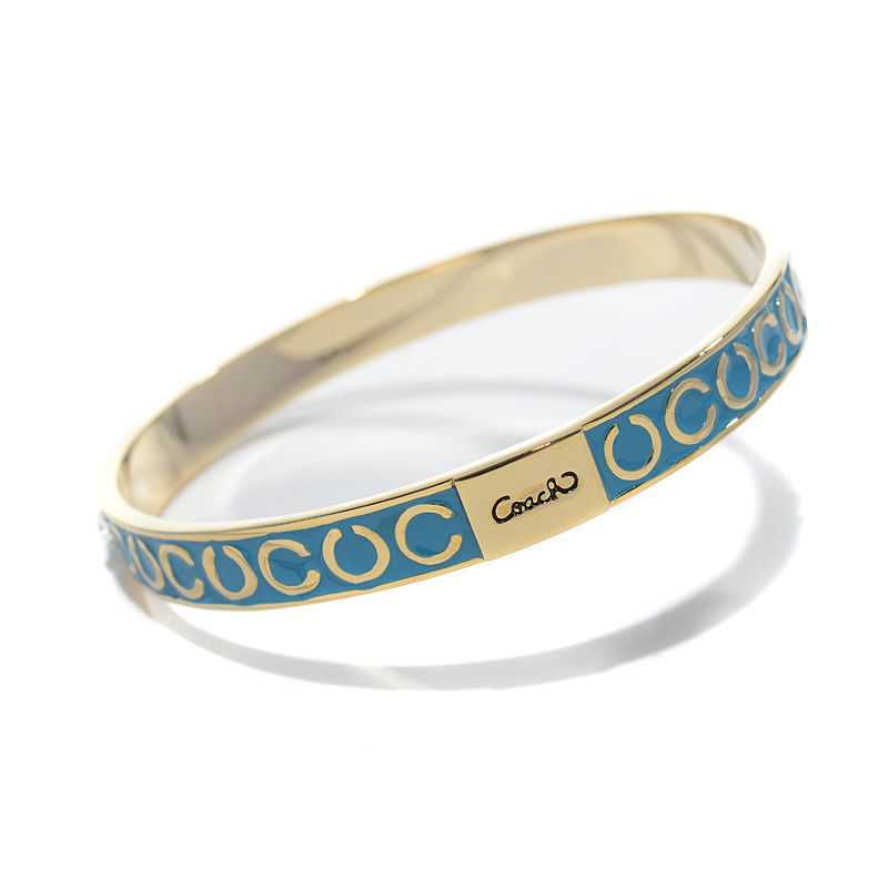 Coach Thin Op Art Pave Blue Bracelets BZX