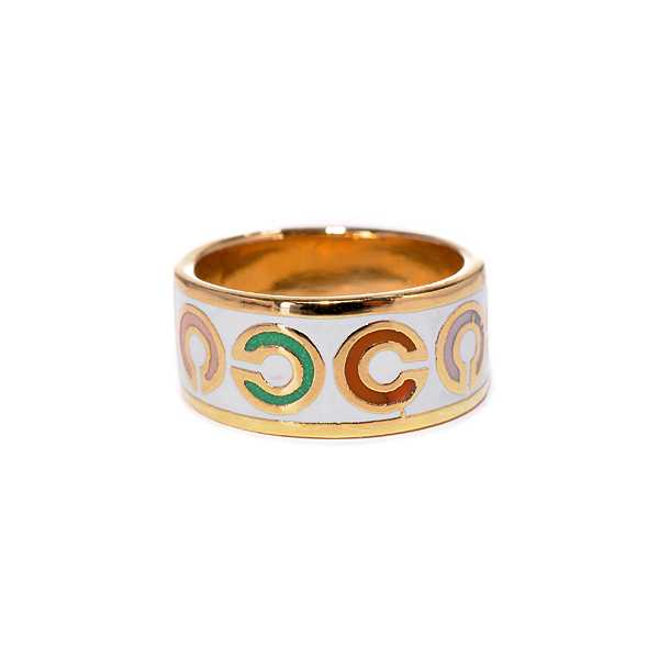 Coach Op Art White Rings AKL