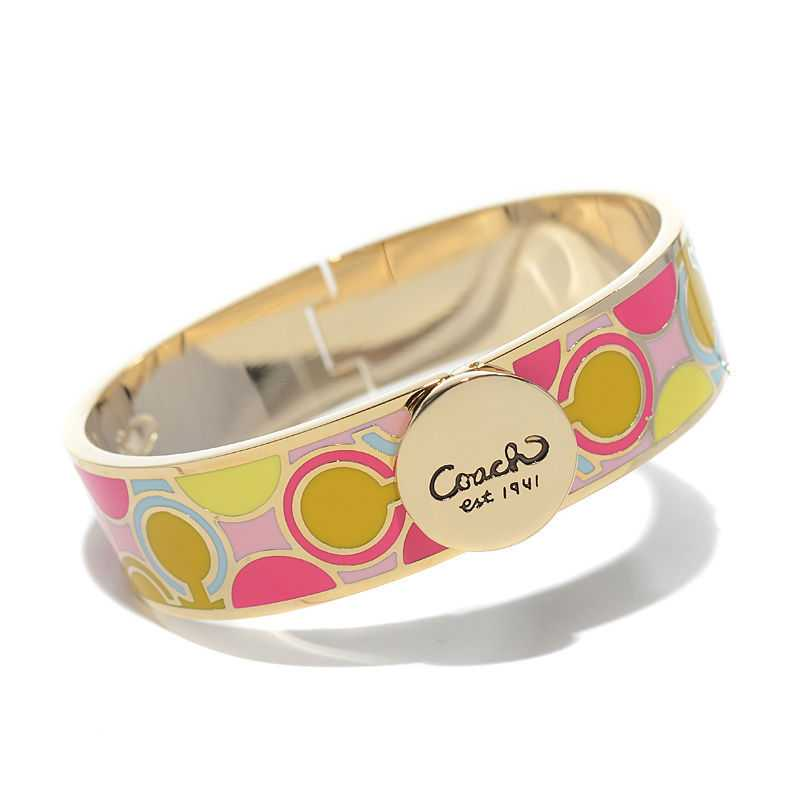 Coach Linked Signature C Pink Bracelets AKR