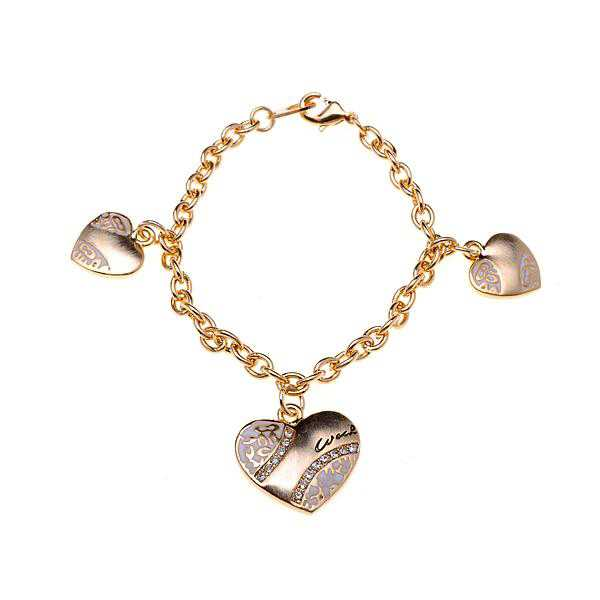 Coach Heart Signature Gold Bracelets ALD