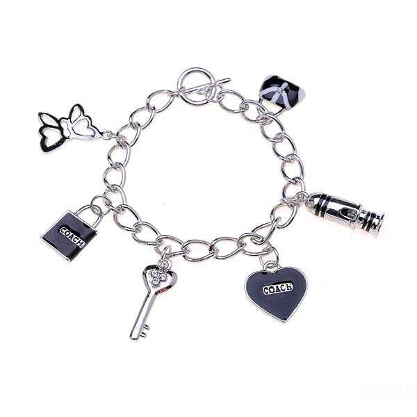 Coach Fashion Charm Black Bracelets CVY